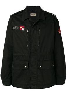 Yves Saint Laurent patch detail shirt jacket