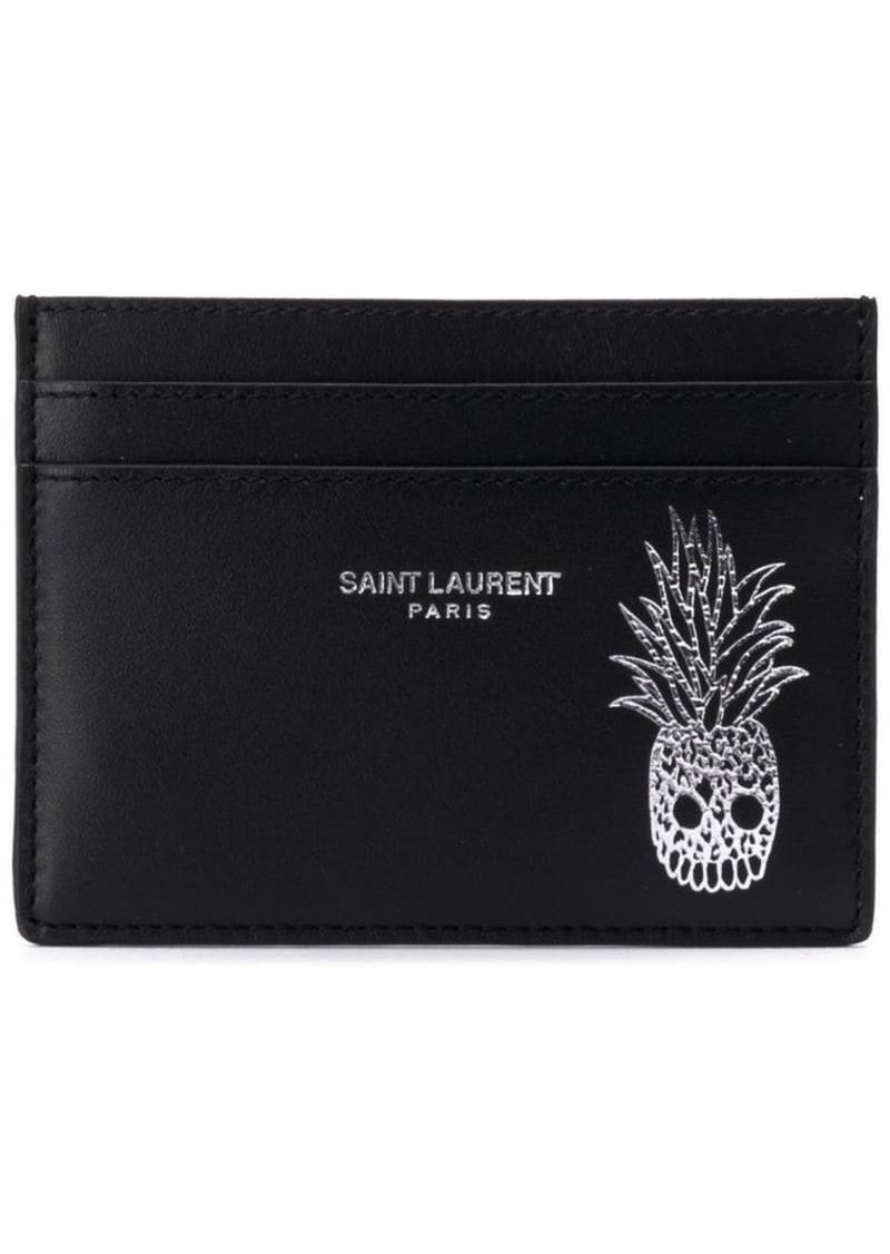 size 40 1bb61 804f0 pineapple skull print card case