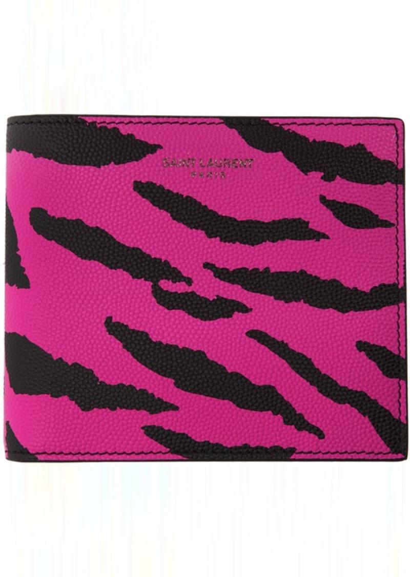 Pink & Black Zebra East/West Wallet