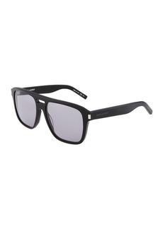 Saint Laurent Plastic Navigator Sunglasses