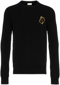 Yves Saint Laurent playing cards cashmere jumper
