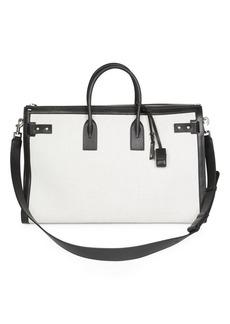 Yves Saint Laurent Portadoll Leather Briefcase