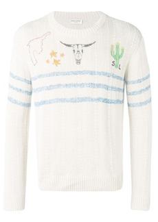 Yves Saint Laurent printed knit jumper