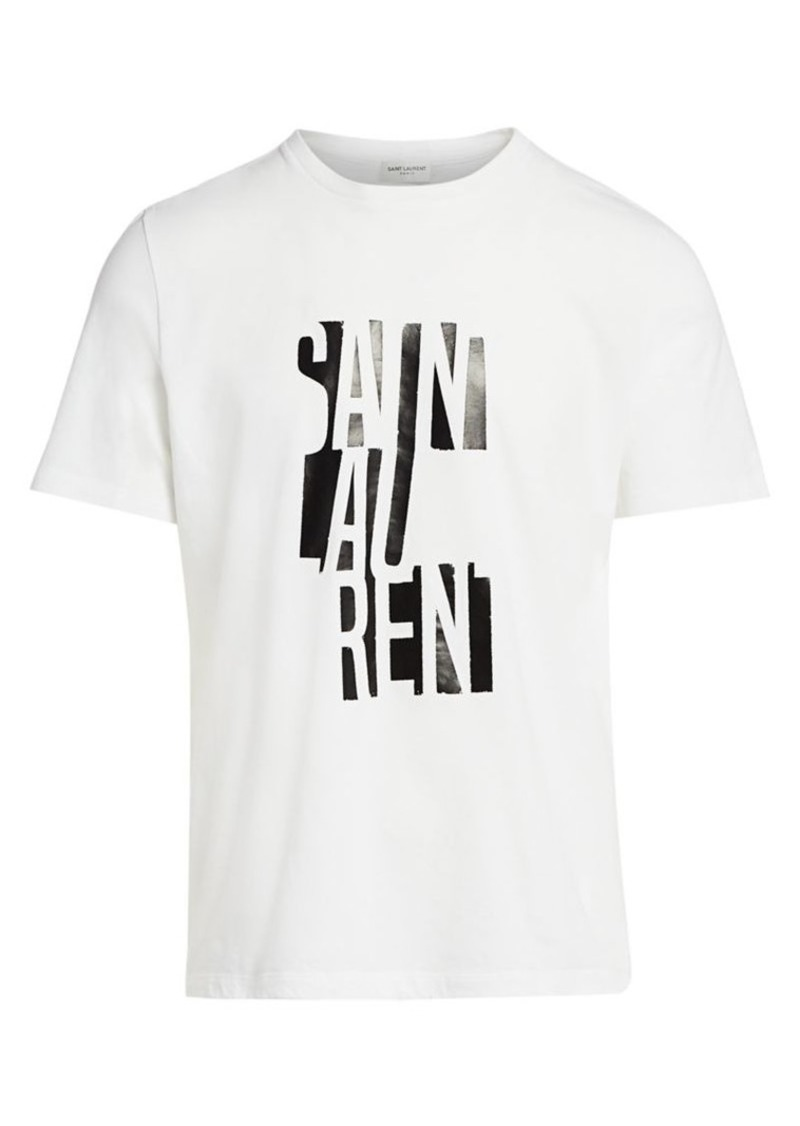 Yves Saint Laurent Printed Logo T-Shirt