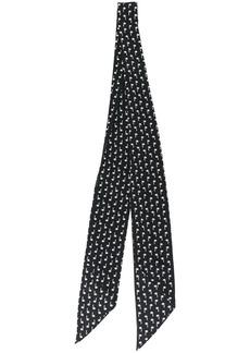 Yves Saint Laurent printed narrow scarf