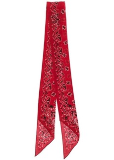 Yves Saint Laurent printed neck scarf