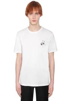 Yves Saint Laurent Radio Print Cotton Jersey T-shirt