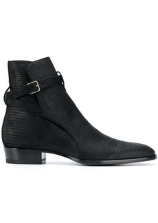 Yves Saint Laurent reptile effect leather ankle boots