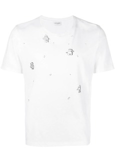 e28318b2c8 Yves Saint Laurent crest print T-shirt   T Shirts