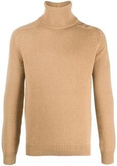 Yves Saint Laurent roll-neck raglan-sleeve jumper