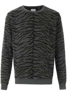 Yves Saint Laurent Rond animal print sweatshirt