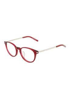 Yves Saint Laurent Round Acetate/Metal Optical Glasses
