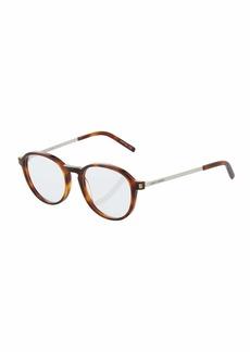 Yves Saint Laurent Round Havana Acetate Optical Glasses