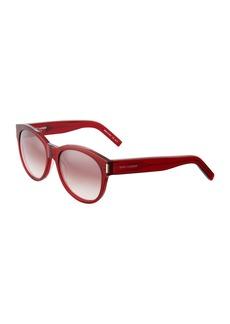 Saint Laurent Round Plastic Sunglasses