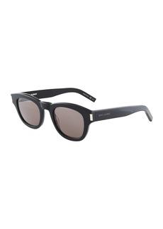 Yves Saint Laurent Round Plastic Sunglasses