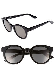Saint Laurent 51mm Round Sunglasses