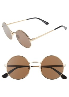 Saint Laurent 52mm Round Sunglasses
