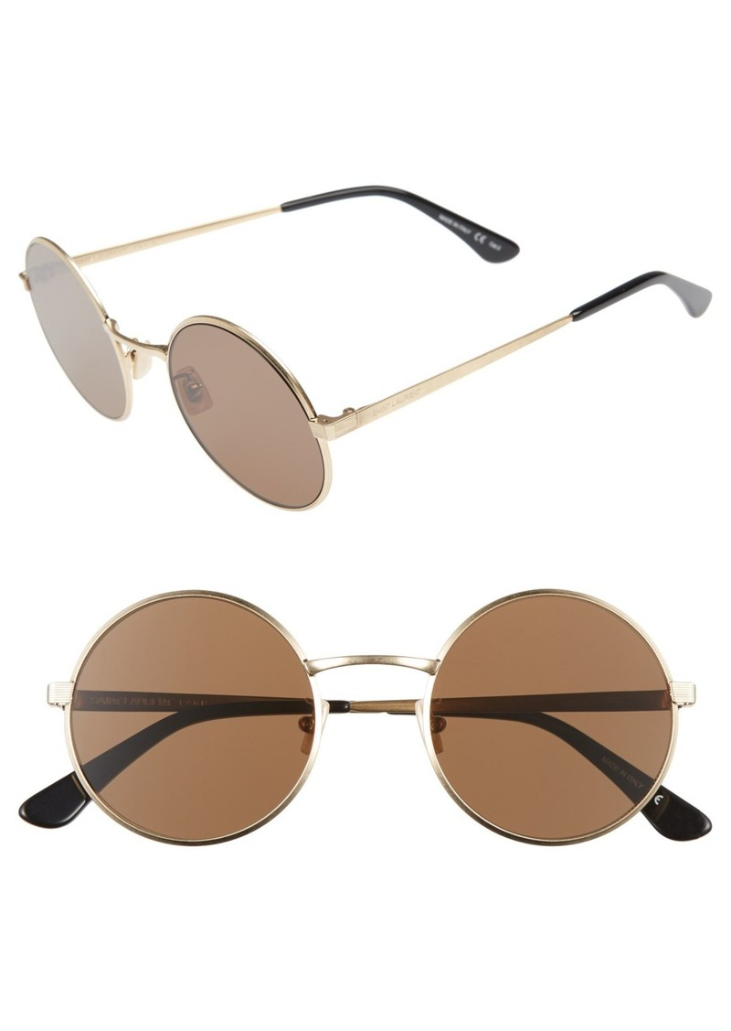 Yves Saint Laurent Saint Laurent 52mm Round Sunglasses
