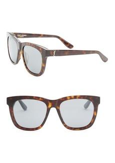 Yves Saint Laurent 55MM Avana Square Sunglasses