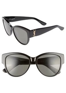 Saint Laurent 55mm Cat Eye Sunglasses