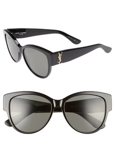 Saint Laurent 55mm Cat Eye Sunglasses
