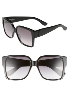 Saint Laurent 55mm Square Sunglasses