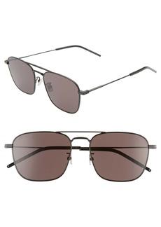 Yves Saint Laurent Saint Laurent 56mm Aviator Sunglasses