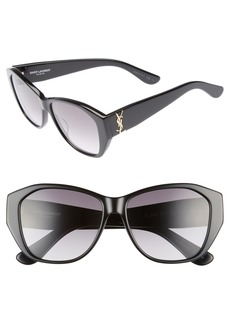Saint Laurent 56mm Sunglasses