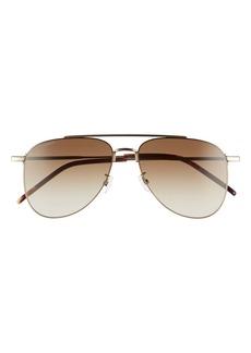 Yves Saint Laurent Saint Laurent 57mm Aviator Sunglasses