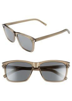 Yves Saint Laurent Saint Laurent 57mm Rectangle Sunglasses