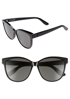 Saint Laurent 58mm Cat Eye Sunglasses