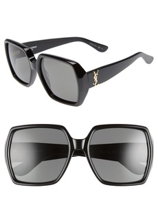 Yves Saint Laurent Saint Laurent 58mm Square Sunglasses