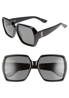 Saint Laurent 58mm Square Sunglasses
