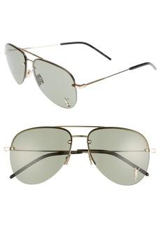 Saint Laurent 59mm Aviator Sunglasses