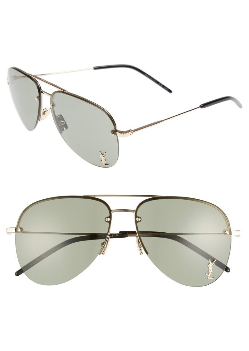 Yves Saint Laurent Saint Laurent 59mm Aviator Sunglasses