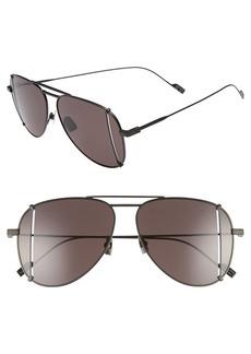 Yves Saint Laurent Saint Laurent 59mm T-Cut Aviator Sunglasses