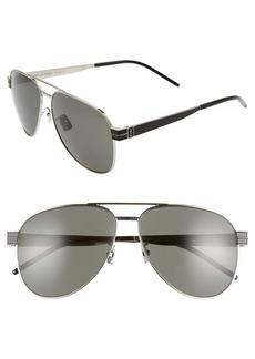 Yves Saint Laurent Saint Laurent 60mm Aviator Sunglasses