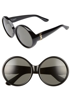Saint Laurent 60mm Round Sunglasses