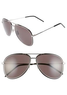 Yves Saint Laurent Saint Laurent 61mm Aviator Sunglasses