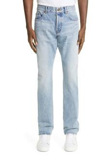 Yves Saint Laurent Saint Laurent 6830 Slim Fit Jeans (Hawaii Blue)