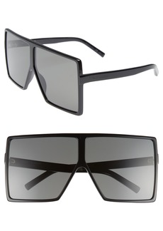 Saint Laurent 68mm Oversize Square Sunglasses
