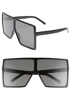 Yves Saint Laurent Saint Laurent 68mm Oversize Square Sunglasses