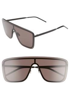 Yves Saint Laurent Saint Laurent 99mm Flat Front Shield Sunglasses