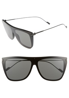 Saint Laurent 99mm Shield Sunglasses