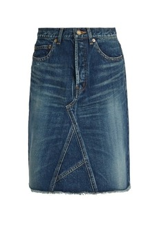Saint Laurent A-line denim mini skirt