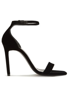 Saint Laurent Amber velvet sandals