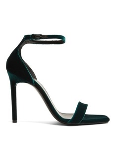 Yves Saint Laurent Saint Laurent Amber velvet sandals