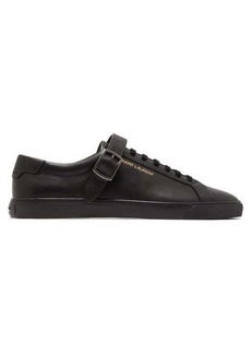 Yves Saint Laurent Saint Laurent Andy buckled low-top leather trainers
