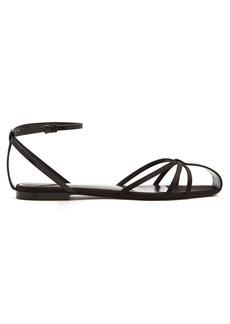 Saint Laurent Anja & Freja crystal-embellished sandals