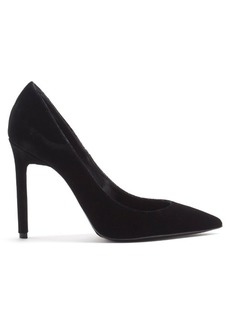 Saint Laurent Anja point-toe velvet pumps